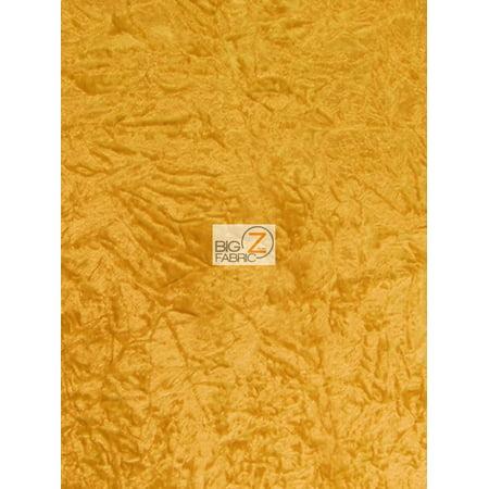 Cut Velvet Upholstery Fabric (Crush Flocking Upholstery Velour Velvet Fabric / Yellow / Sold By The)