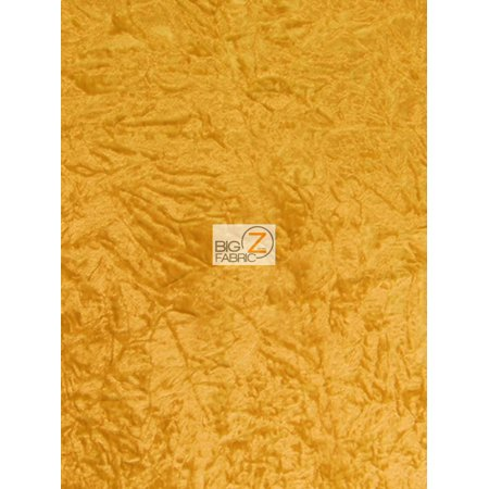 Crush Flocking Upholstery Velour Velvet Fabric / Yellow / Sold By The Yard