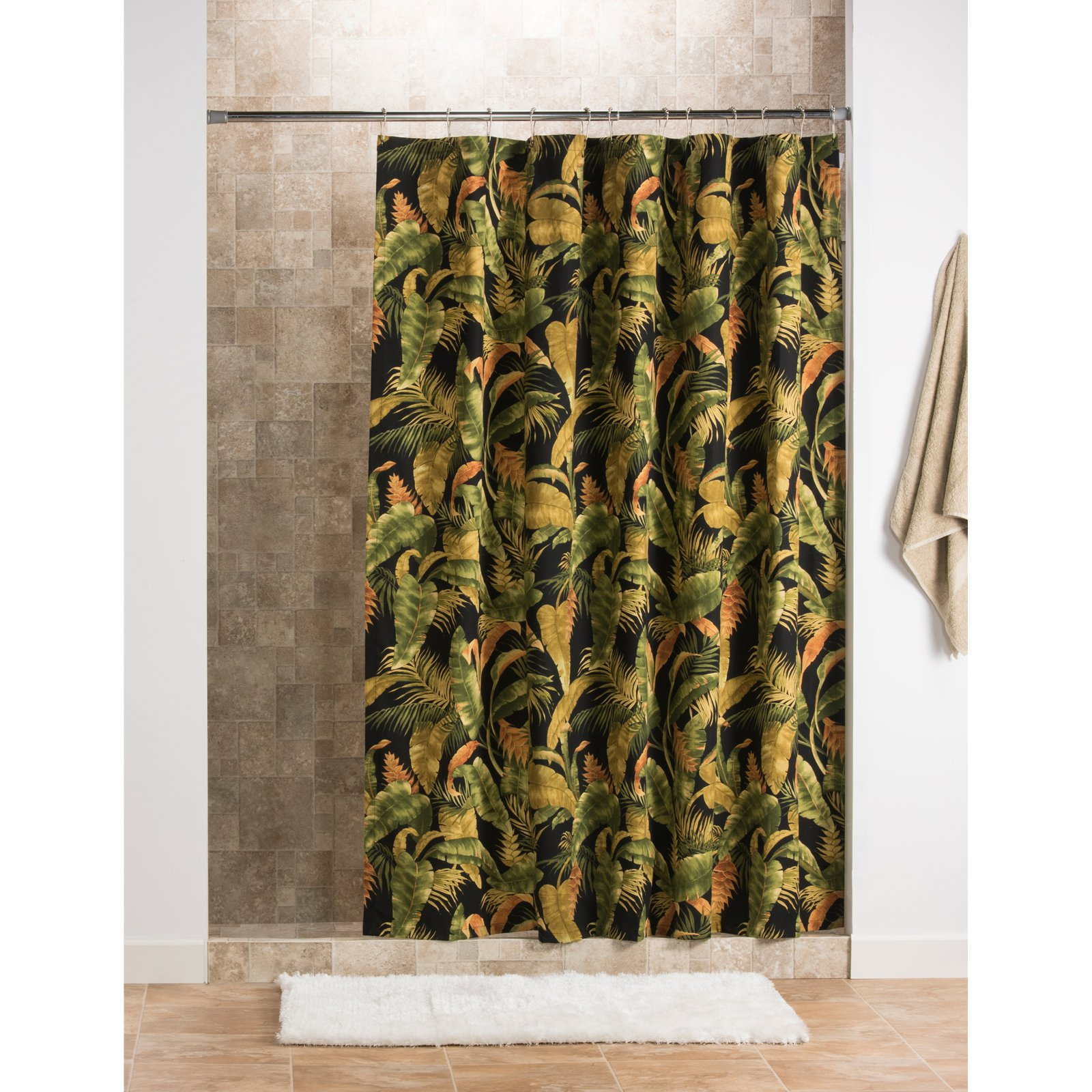 Thomasville At Home La Selva Cotton Extra Long Shower Curtain