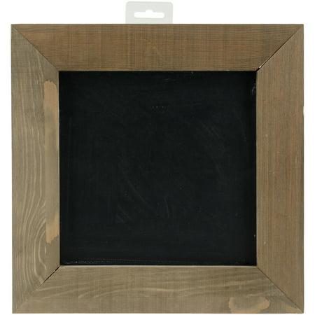 jillibean soup mix the media wood framed chalkboard 12x12 dark - Wood Framed Chalkboard