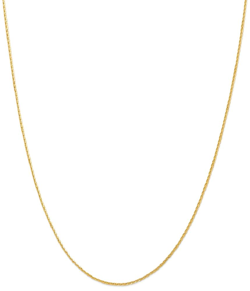 ICE CARATS 14kt Yellow Gold 1.3mm Spiga Link Wheat Chain Necklace 24 Inch Pendant Charm Fine Jewelry Ideal Gifts For... by IceCarats Designer Jewelry Gift USA