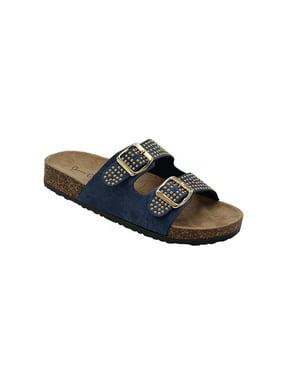 3ad85823a Product Image Kylie-07 Women Double Buckle Straps Sandals Flip Flop  Platform Footbed Sandals Denim 6.5. Fashion Brands Group