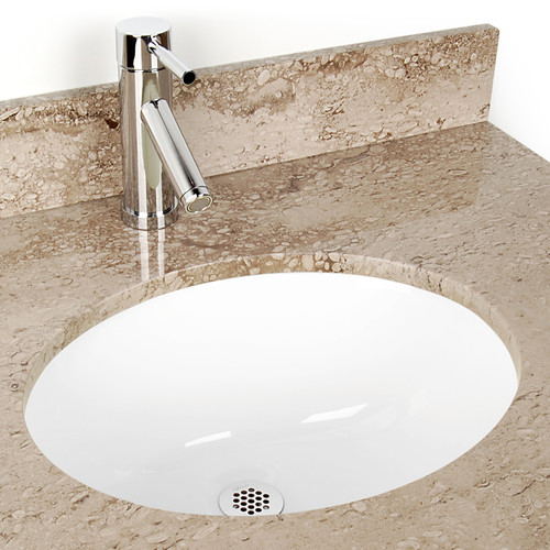 D'Vontz Small Oval China Bathroom Sink