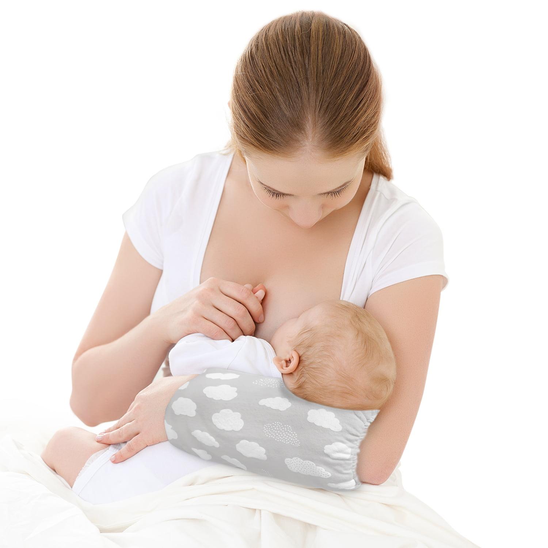 Kushies GoPillow Lite Wearable Breastfeeding Pillow Grey Print