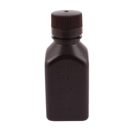 250Ml Plastic Chemical Sample Reagent Bottle Food Sealling Canister Brown