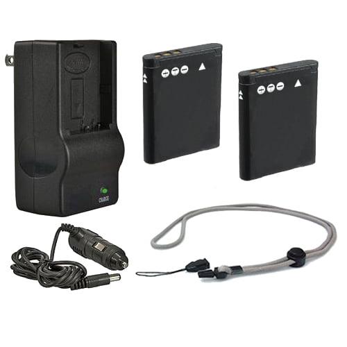 Pentax Optio W90 High Capacity Batteries (2 Units) + AC/D...