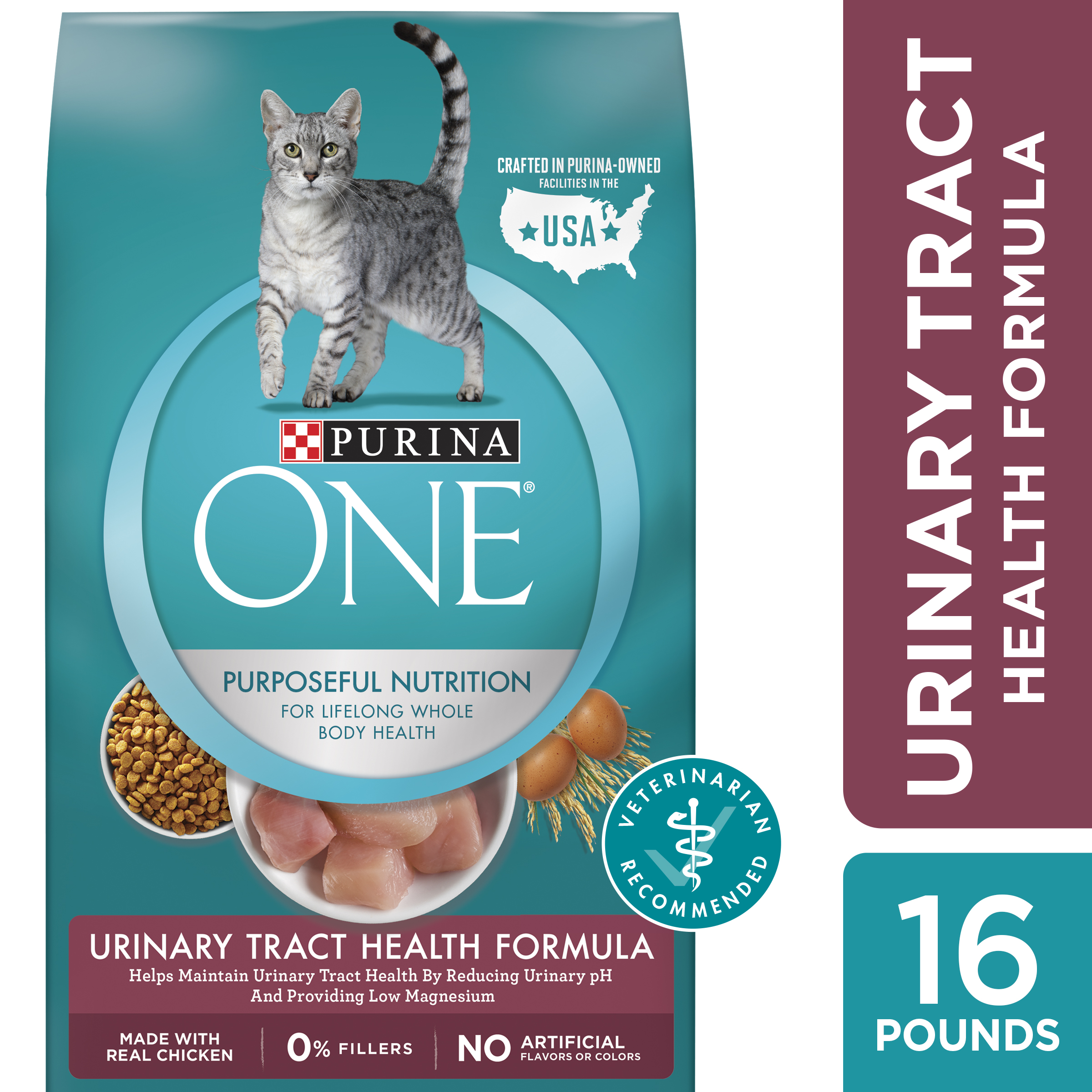 Purina One Urinary Tract Health Dry Cat Food (Various Sizes)