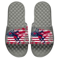 Baltimore Orioles ISlide Youth American Flag Slide Sandals - Gray