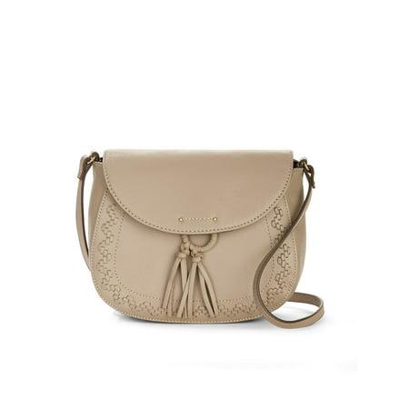 Tignanello Pebble Leather Saddle Crossbody Handbag - Lillie
