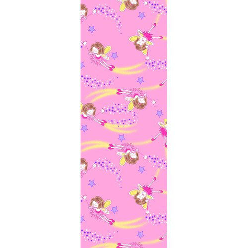"Angel with Shooting Stars Flannel Fabric, Pink, 23.5"" x 9"""