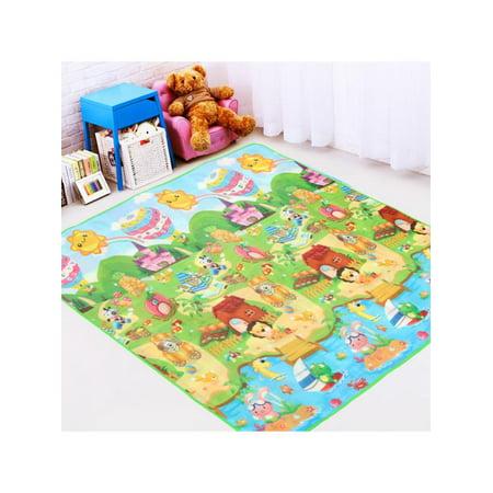 Baby Alphabet Educational Mat, Toddler Activity Creeping Multipurpose Kids Floor Crawl Mat Play Carpet, Childrens Area Rug - Gift for Baby, 79