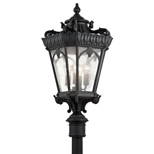 Kichler 9565BKT Tournai 4 Light Outdoor Post Mount Lantern in Textured Black