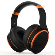COWIN E8 [Upgraded] Active Noise Cancelling Headphone Wireless Headphones with Microphone Hi-Fi Deep Bass Bluetooth Headphones Over Ear 20 Hour Playtime for Travel/Work/TV/Computer/Phone - Orange