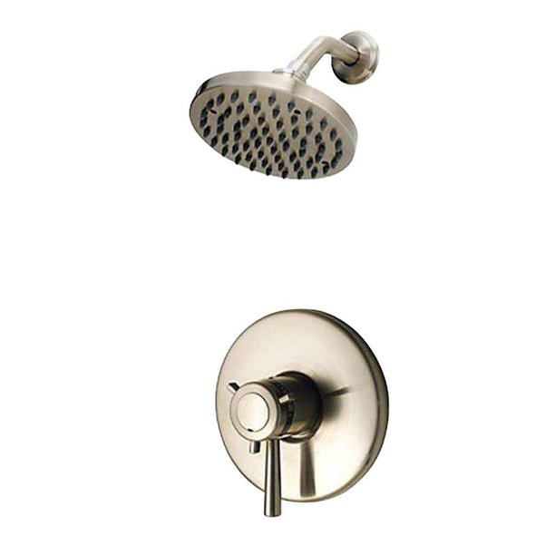 Pfister G89 7tuk Thermostatic Shower Systems 1 Handle Shower Faucet Trim Kit In Brushed Nickel Walmart Com Walmart Com
