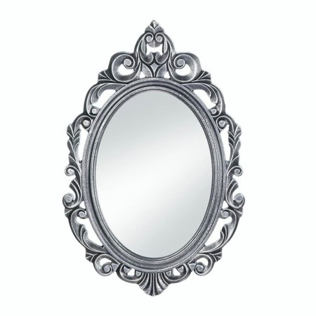 Wall Decor Mirror, Antique Unique Wall Mirrors, Silver Royal Crown Wall Mirror, The design is highlighted by the regal burnished silver finish. By Accent Plus from USA