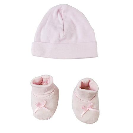 Hat Cap Bootie Set Clothing (Preemie Cap and Bootie Set )