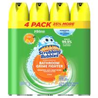 SC Johnson Scrubbing Bubbles Fresh Citrus Scent Disinfectant Bathroom Cleaner, 25 oz, 4 count