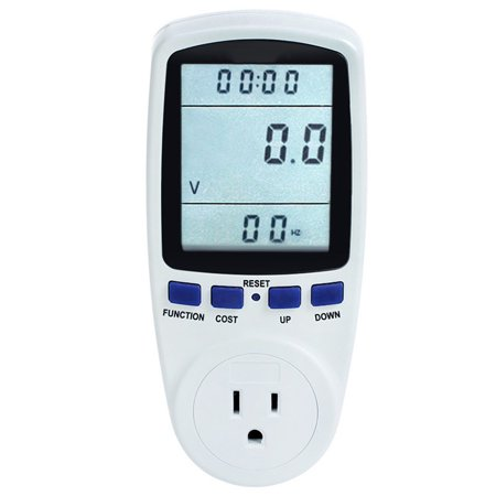 Digital Wattmeter Watt Monitor Electricity Consumption Measuring Socket Analyzer Electricity Usage Monitor Power Meter Energy Meter with Plug Socket for Measure Voltage Electric Current