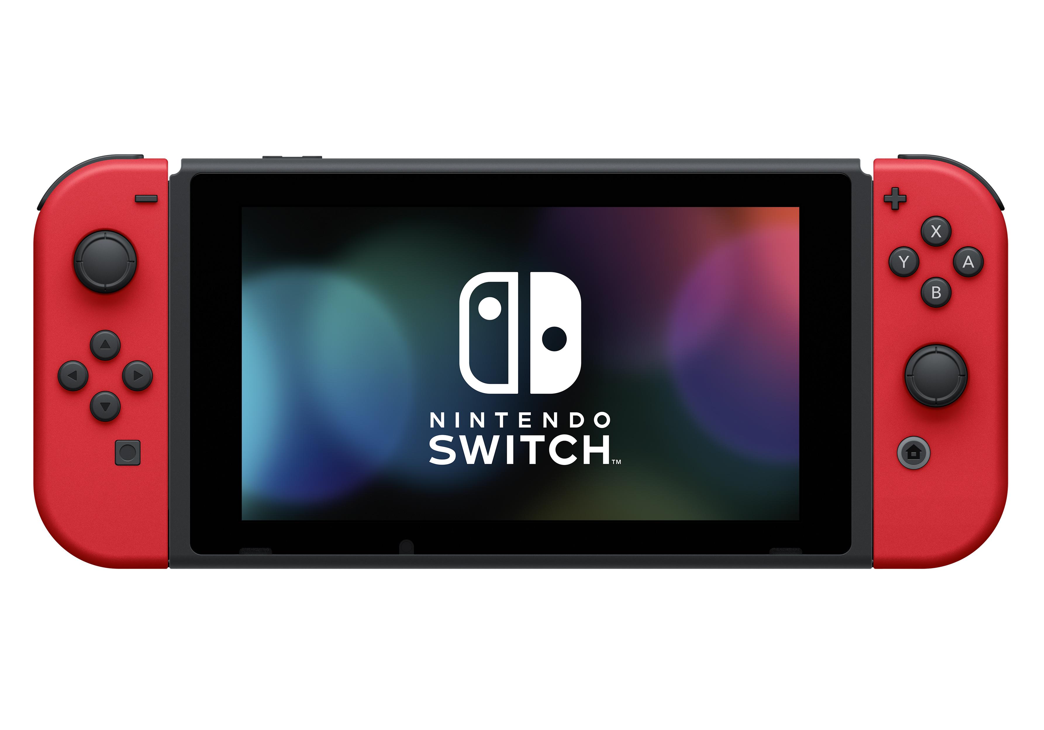 Nintendo Switch Bundle With Mario Red Joy Con 20 Nintendo Eshop Credit Carrying Case Walmart Com Walmart Com