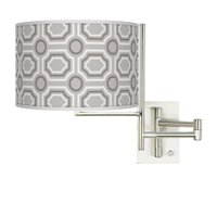 Giclee Glow Tempo Luxe Tile Plug-in Swing Arm Wall Light