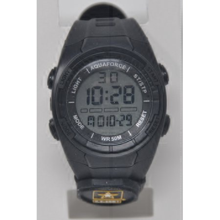 Army Logo Watch - Aquaforce Digital Multi-function 50m water resist watch US Army logo