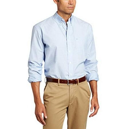 Izod Mens Long-Sleeve Essential Solid Shirt ()