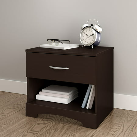 South Shore SoHo 1-Drawer Nightstand, Brown