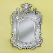 Large Royale Venetian Arch Wall Mirror - 37.5W x 47H in.