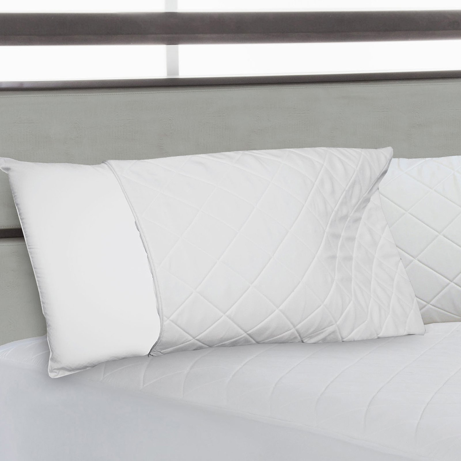 Perfect Fit Quilted Memory Foam Zipper Pillow Enhancer