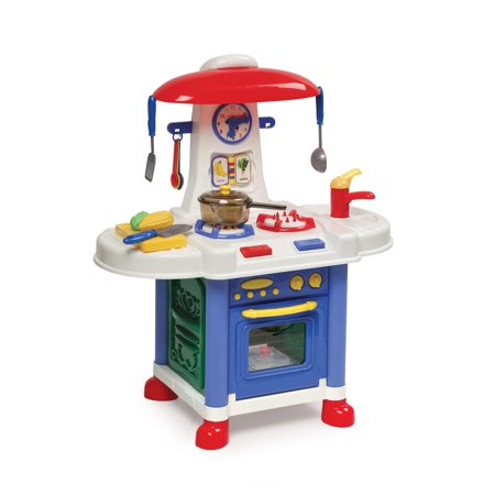 (Badger Basket Junior Electronic Play Kitchen with Accessories)