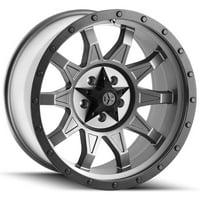 """18"""" Inch Cali Offroad 9301 Roadkill 18x9 5x127(5x5"""") +0mm Gunmetal Wheel Rim"""