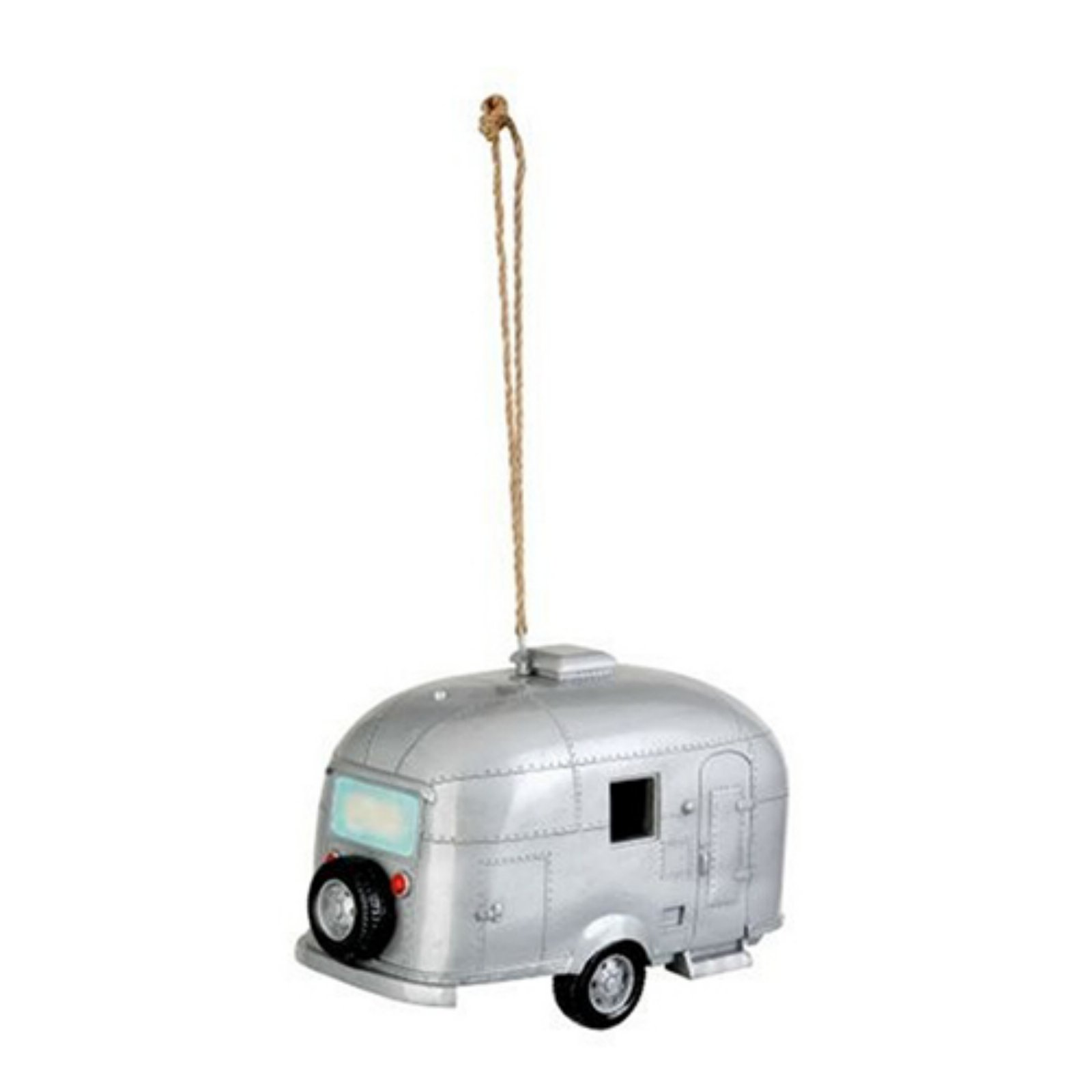 Red Carpet Studios Birdhouse Birdie In The Woods Silver Camper by Bird Houses