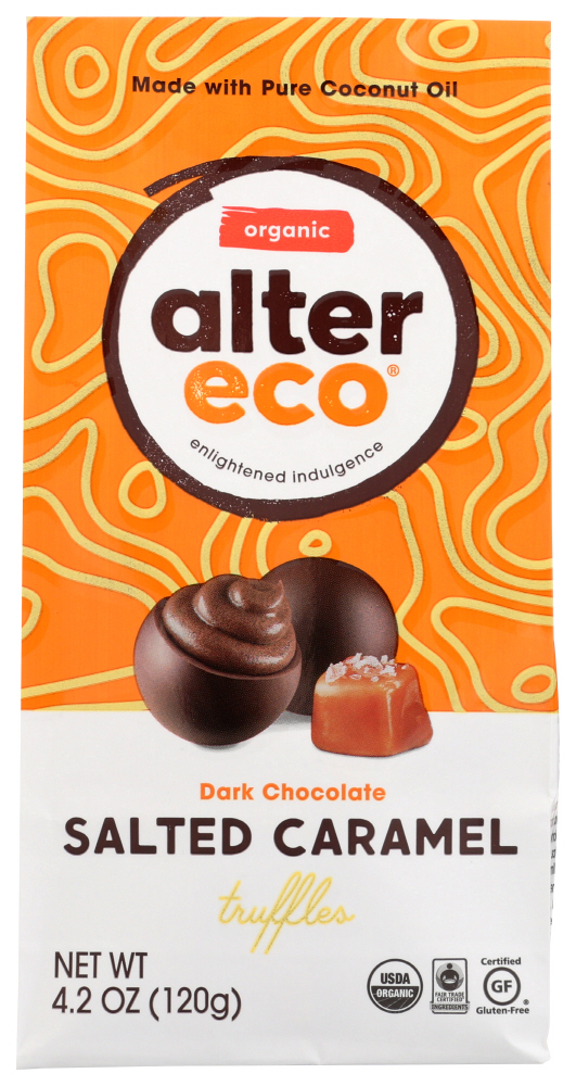 Alter Eco Salted Caramel Truffles, 4.2 Oz