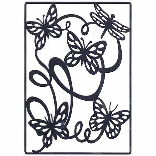 Ecstasy Crafts Lin & Lene Cut & Emboss Die - Butterfly Background