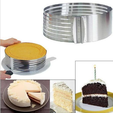 Jeobest Stainless Steel Layer Cake Slicer - Adjustable Cake Slice Cutter - Cake Bread Cutter Leveler - Adjustable 9