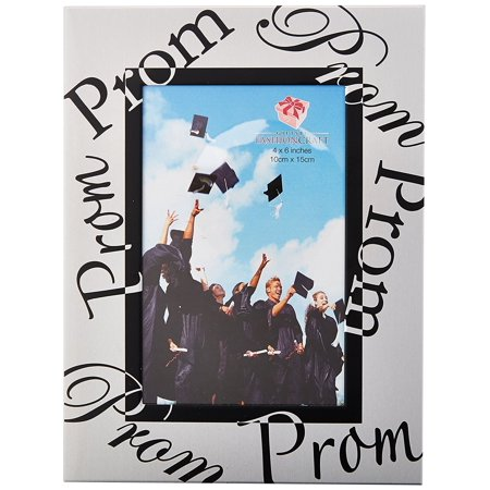 Prom Frame, Silver, Individually material packaged in an acetate Box By Fashioncraft (Acetate Frame)