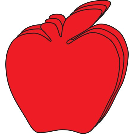 Large Single Color Cut-Out - Red Apple Apple Shape Cut Out