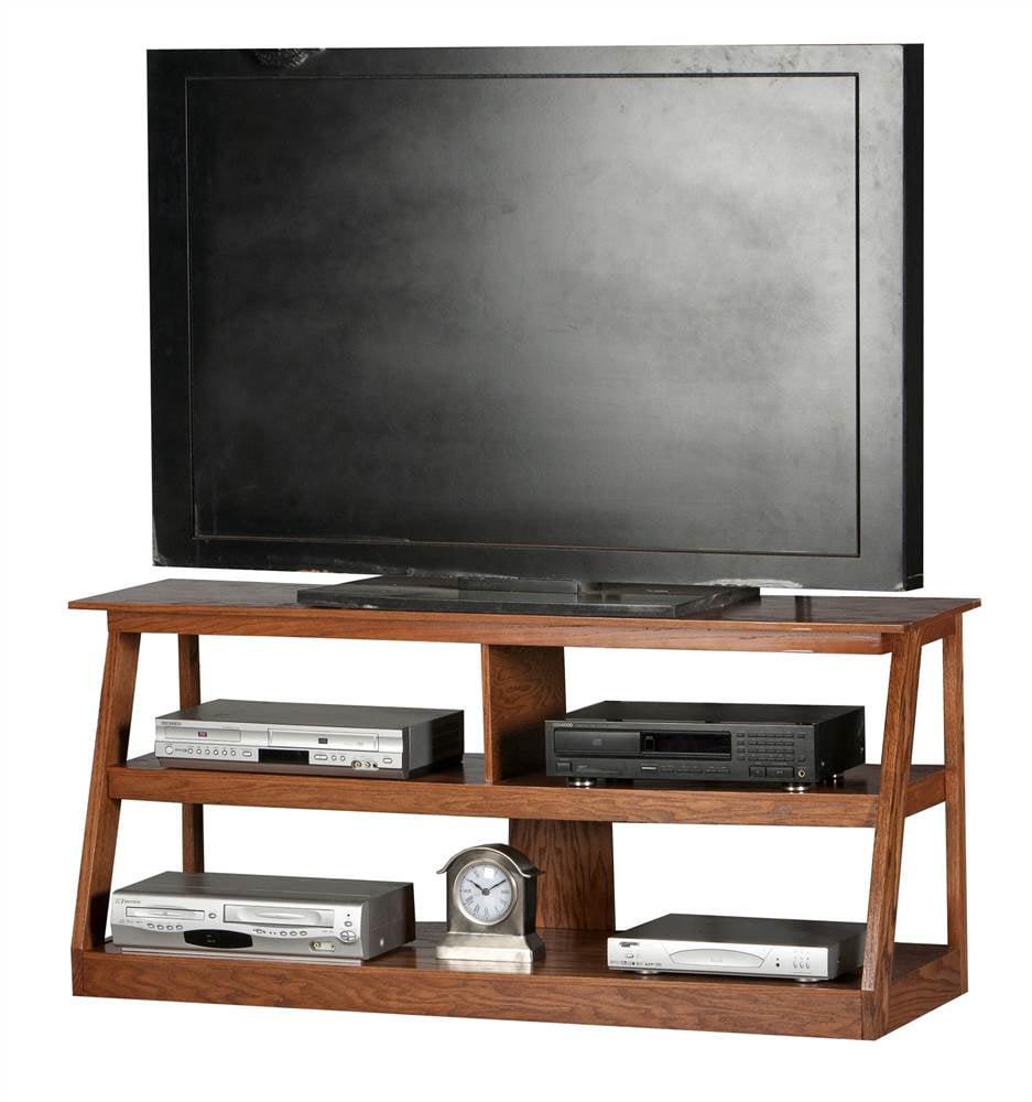Adler Open TV Stand (Dark Oak)