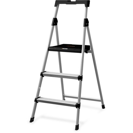 Louisville Dadbxl226003s 3 Steel Step Stool With Slots 1 Each Aluminum