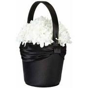 Lillian Rosesatin Sash Flower Basket-bla