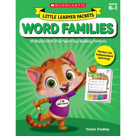 Little Learner Packets: Word Families : 10 Playful Units That Teach Key Spelling Patterns - Halloween Spelling Words