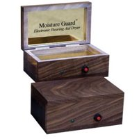 Moisture Guard Electronic Hearing Aid Dryer - American Black Walnut