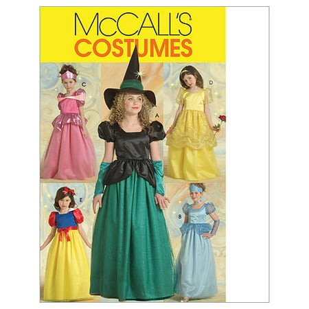Children's/Girls' Princess and Witch Costumes-CHJ (7-8-10-12-14) -*SEWING PATTERN*