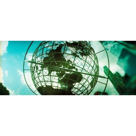 Steel globe at the Trump International Hotel And Tower Columbus Circle Manhattan New York City New York State USA Canvas Art - Panoramic Images (30 x 12)](Halloween Usa Grove City)
