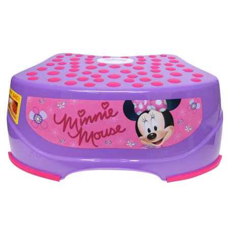 Disney Minnie Mouse Step And Glow Step Stool Purple