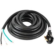 """ALEKO RV Power Cable with Male Terminal - 6"""" Loose End - 30A - 25 Feet"""