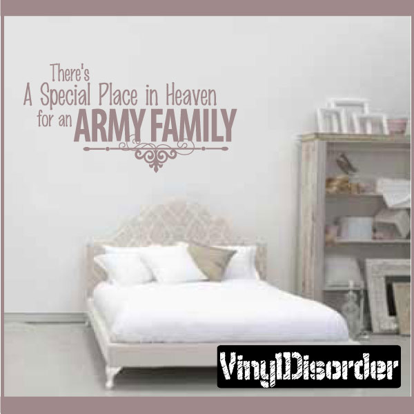 There's a special place in heaven for an army family Patriotic Vinyl Wall Decal Sticker Mural Quotes Words PA036TheresaP3 36 Inches