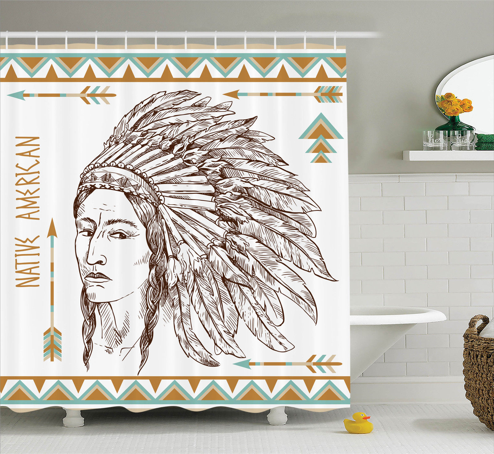 Native American Decor  Illustration Of Traditional Native...