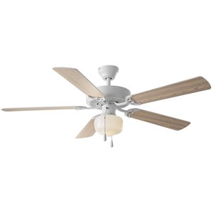 "52"" Mainstays Ceiling Fan, Globe Light, White"