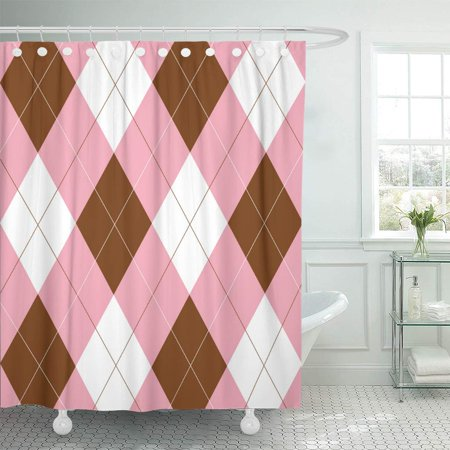 KSADK 1980S Pink Brown and 70S 80S Retro 1960S 1970S 60S Abstract Bathroom Shower Curtain 60x72 (60's 70's 80's Fancy Dress Costumes)
